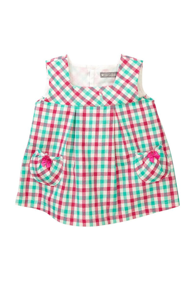 Pink & Aqua Plaid Jumper - Petit Confection