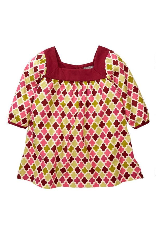 Maroon Tile Print Tunic - Petit Confection