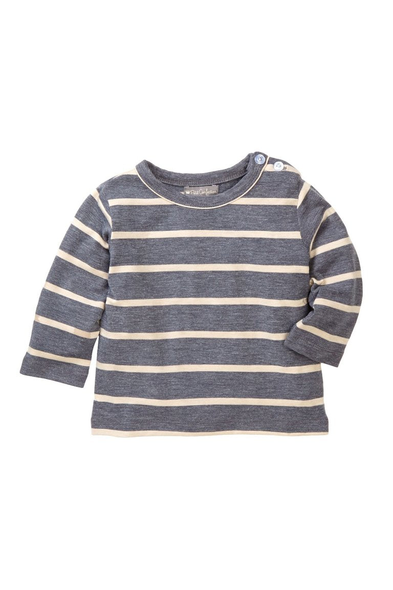 Gray Striped Tee - Petit Confection