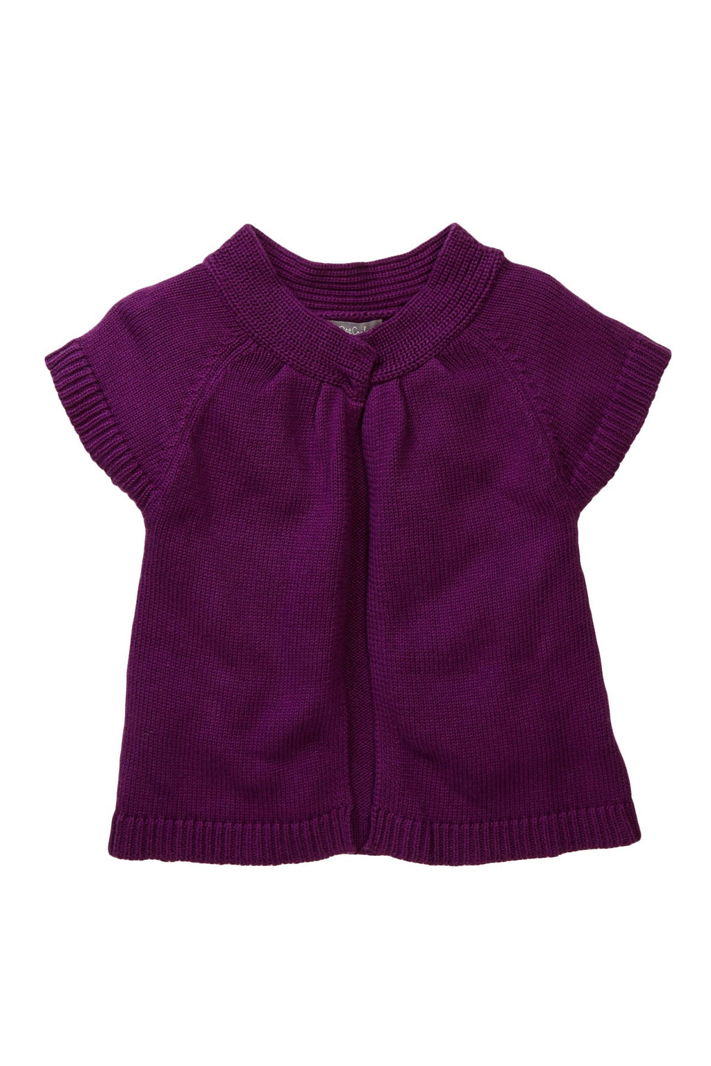 Purple Short-Sleeve Cardigan