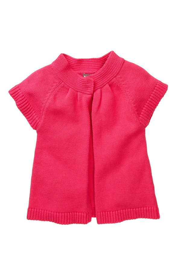 Magenta Short-Sleeve Cardigan