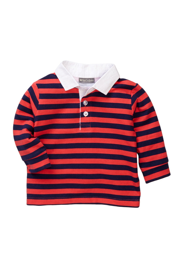 Red Striped Polo