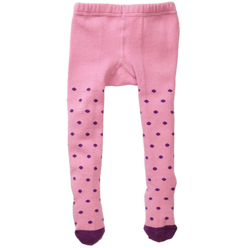 Pink/Purple Polka Dot Tights - Petit Confection