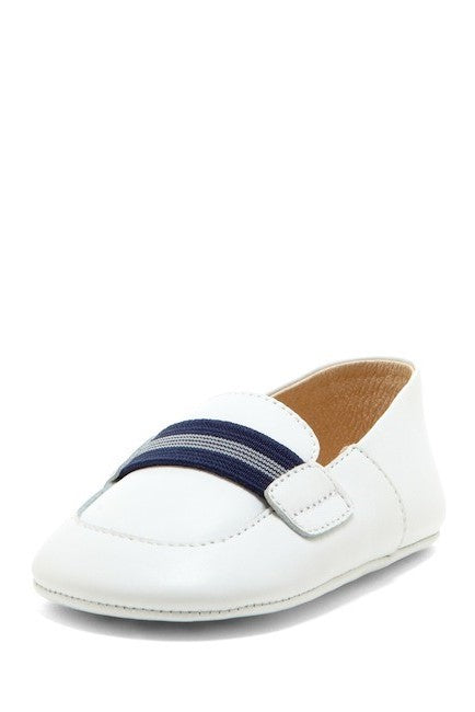 Navy Stripe Banded Loafers - Petit Confection