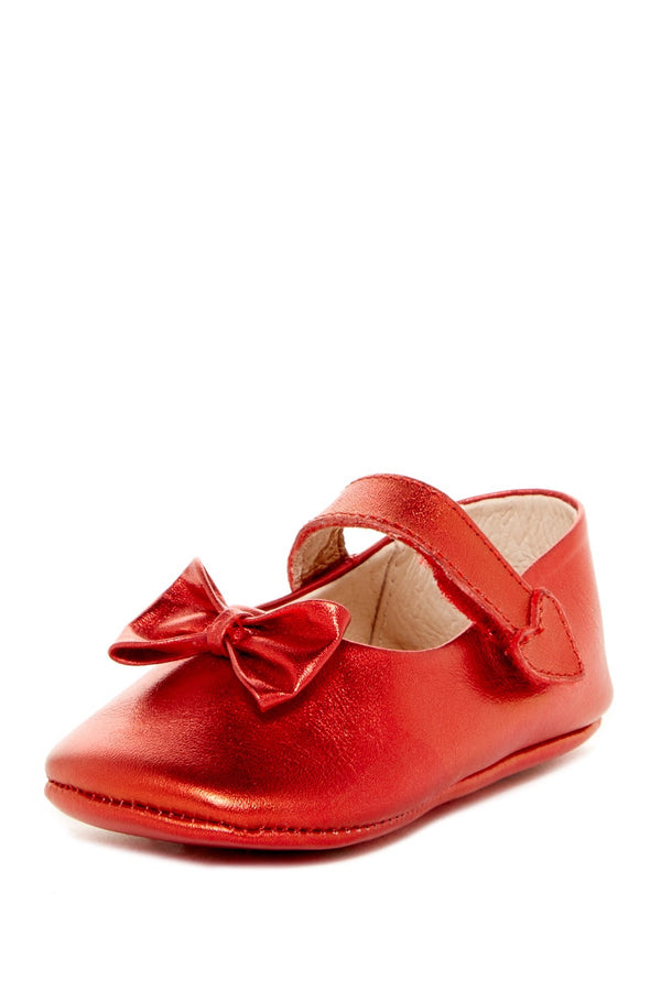 Red Bow Heart Mary Janes - Petit Confection