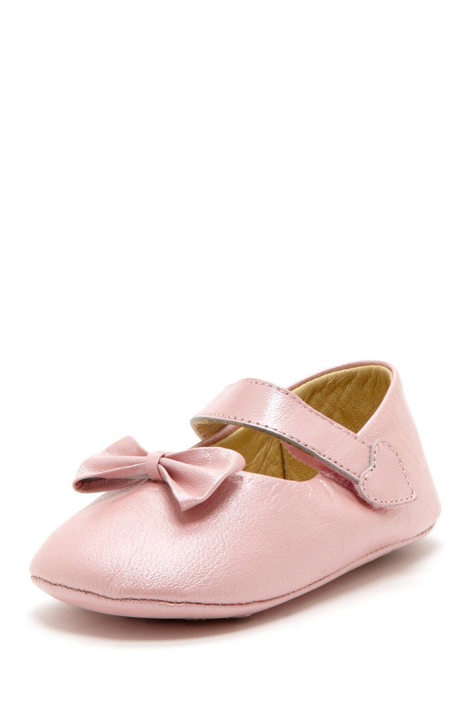 Blush Bow Heart Mary Janes - Petit Confection