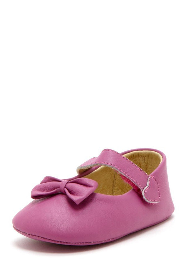 Magenta Bow Heart Mary Janes - Petit Confection