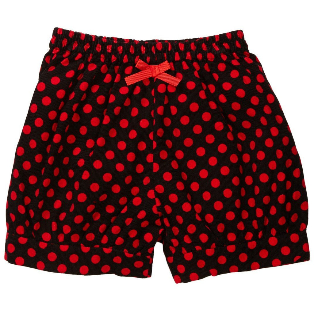 Red Polka Dot Corduroy Shorts