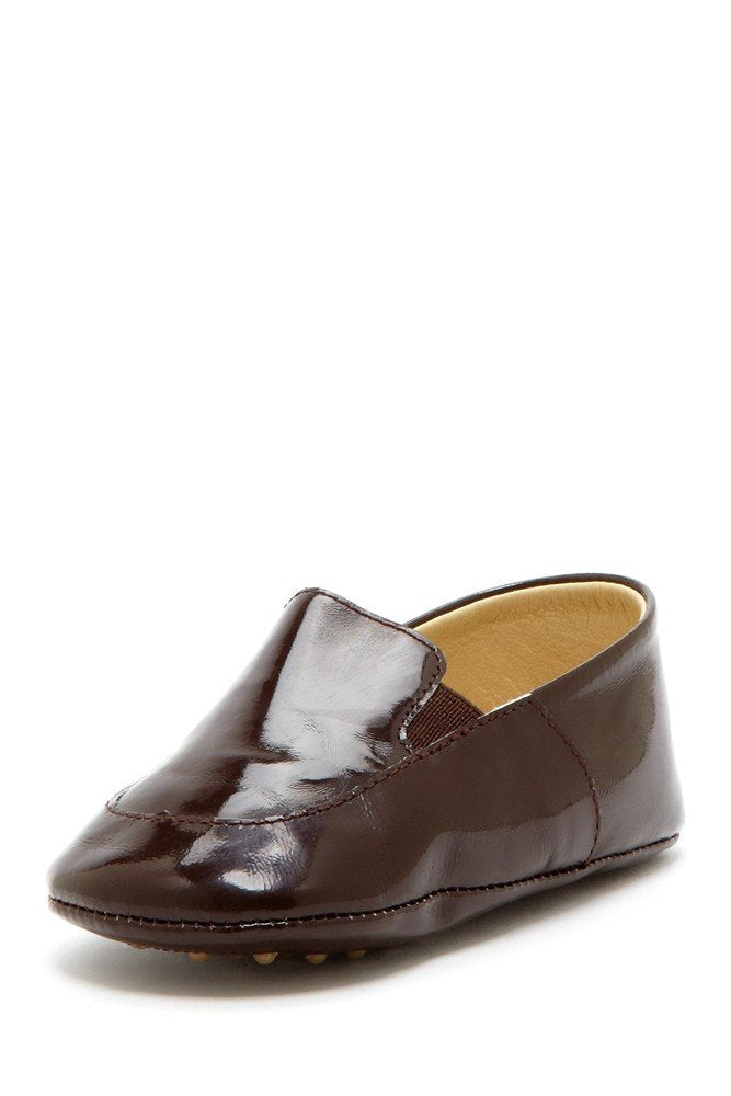 Chocolate Patent Banded Loafers - Petit Confection