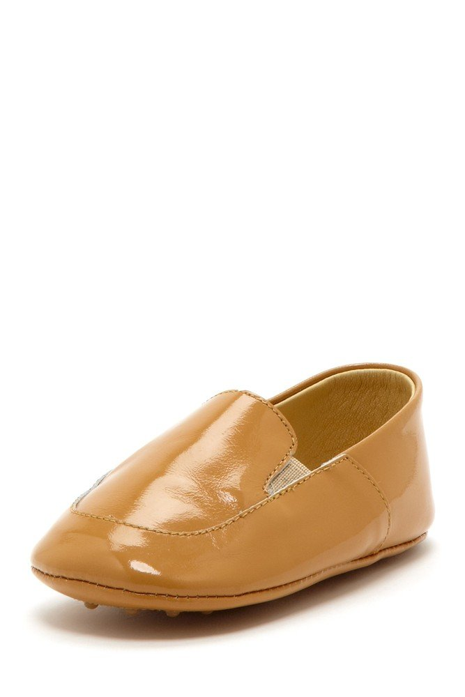 Camel Patent Banded Loafers
