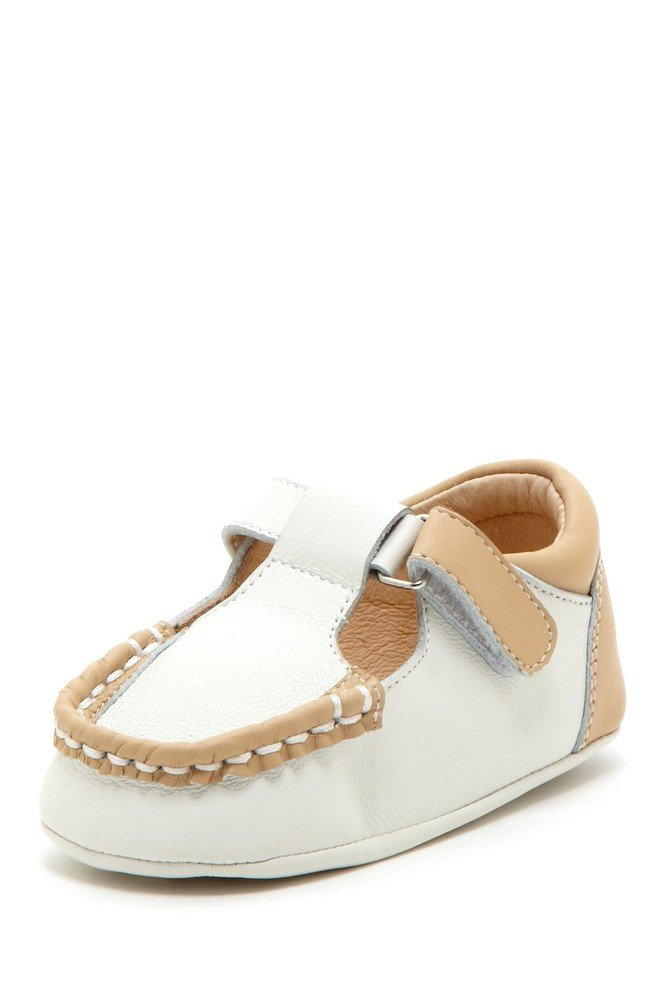 Mocha Colorblock T-Strap Loafers - Petit Confection