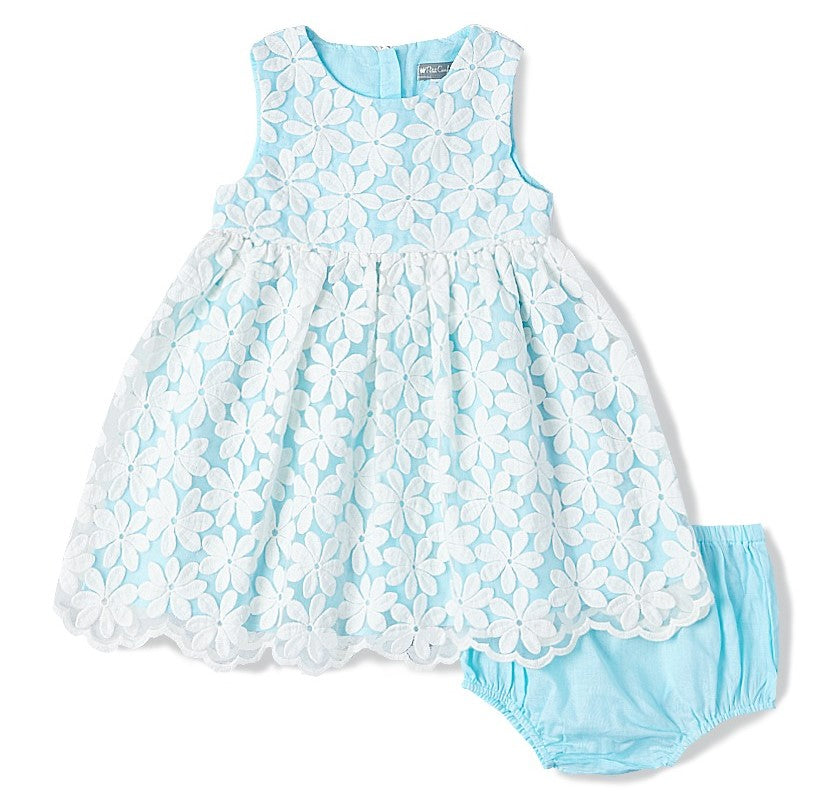 Scalloped Lace Dress + Bloomers