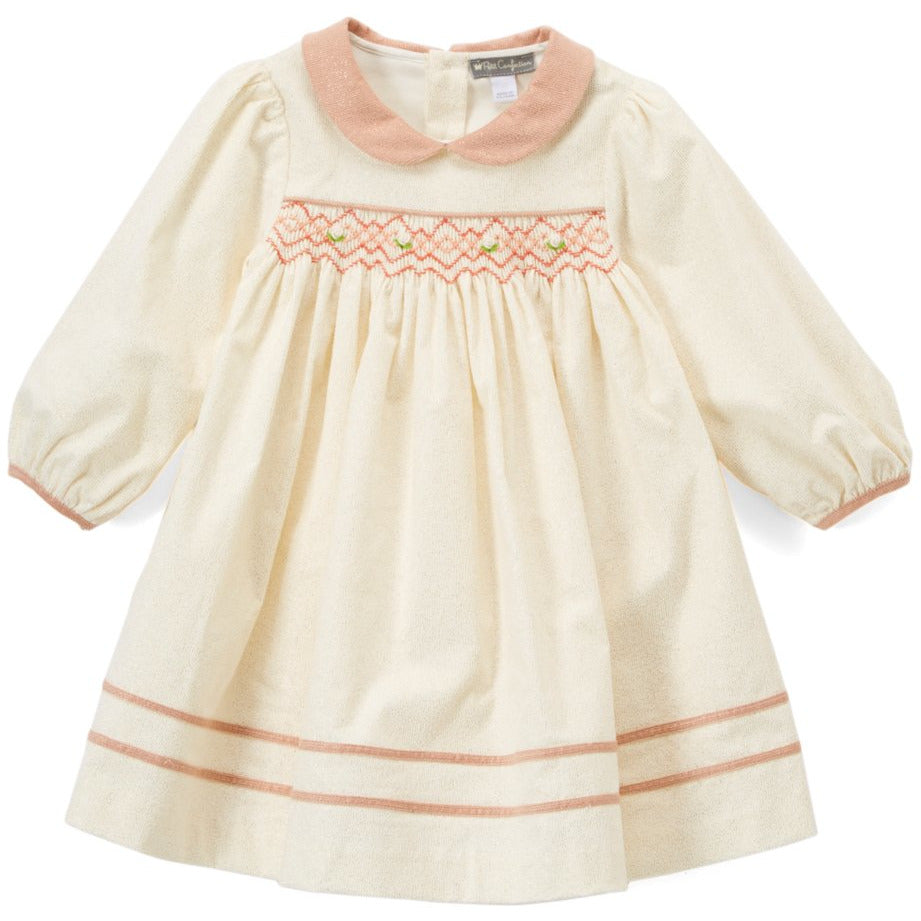Smocked Corduroy Dress