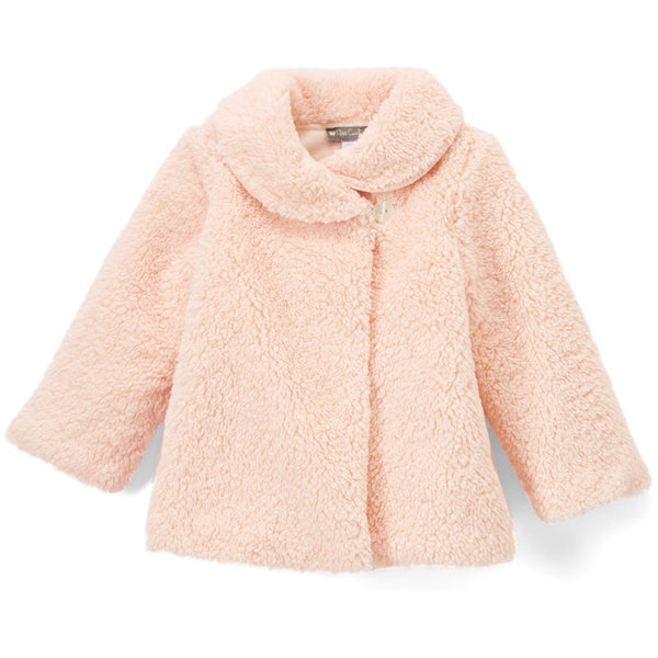 Blush Faux Fur Coat