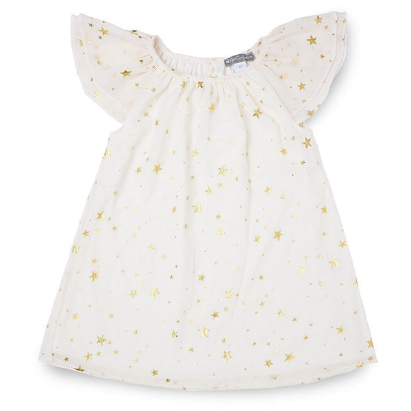 Star Printed Chiffon Dress