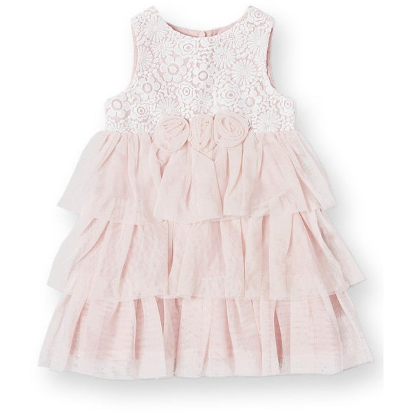 Blush Tulle Lace Dress