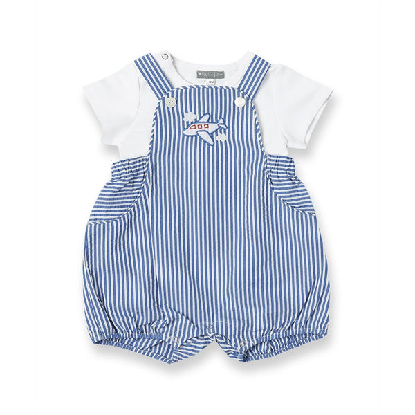 Airplane Overalls + Tee Set