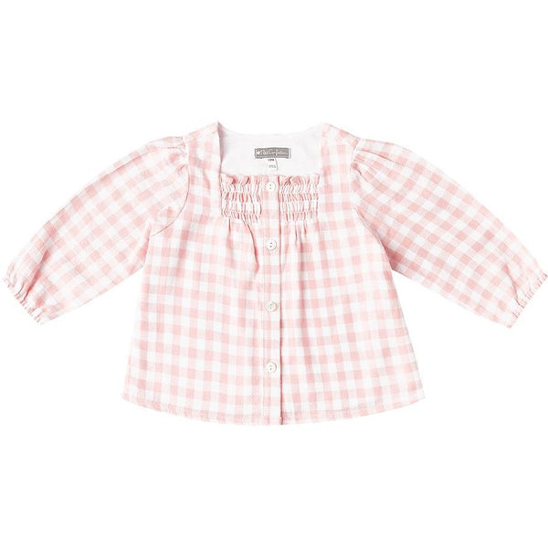 Pink Checkered Flannel Top