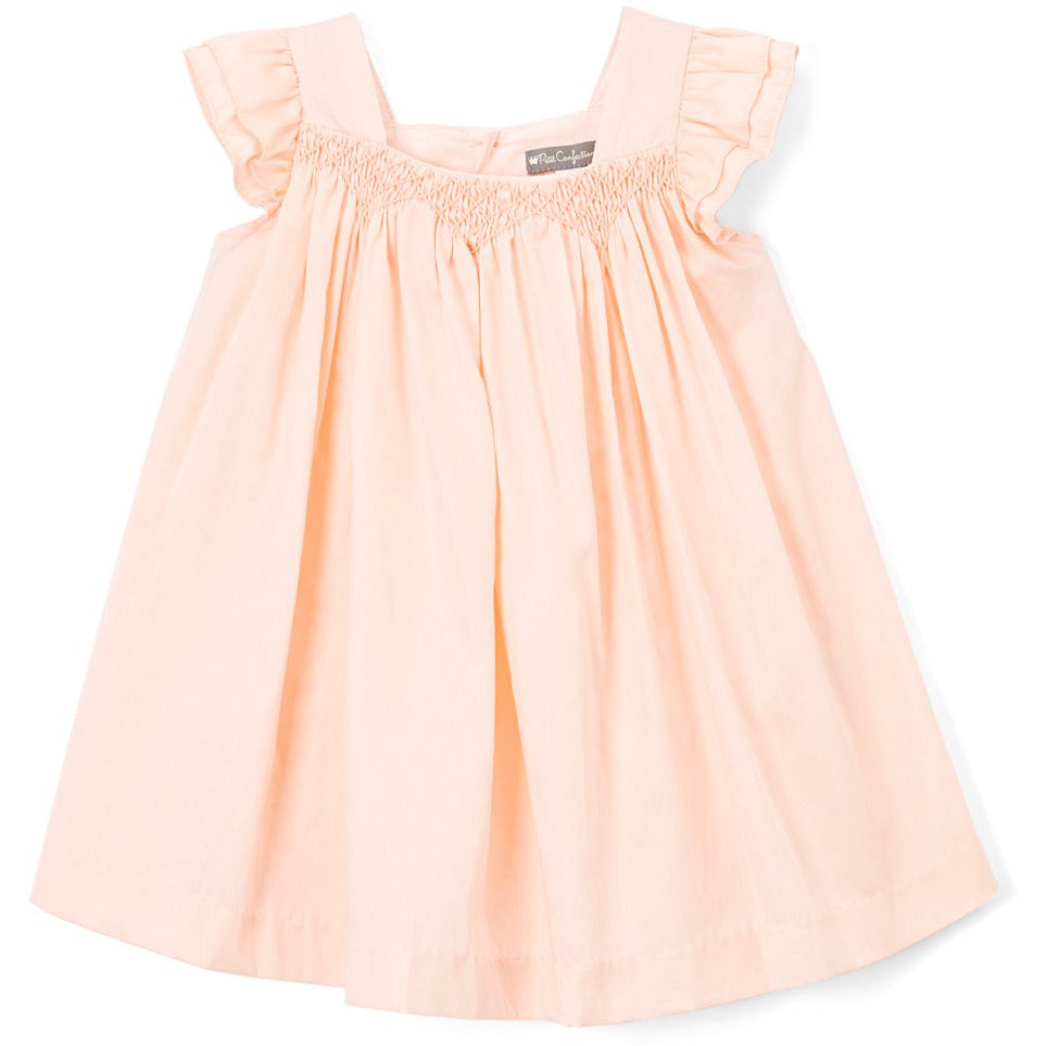 Peach Smocked Dress