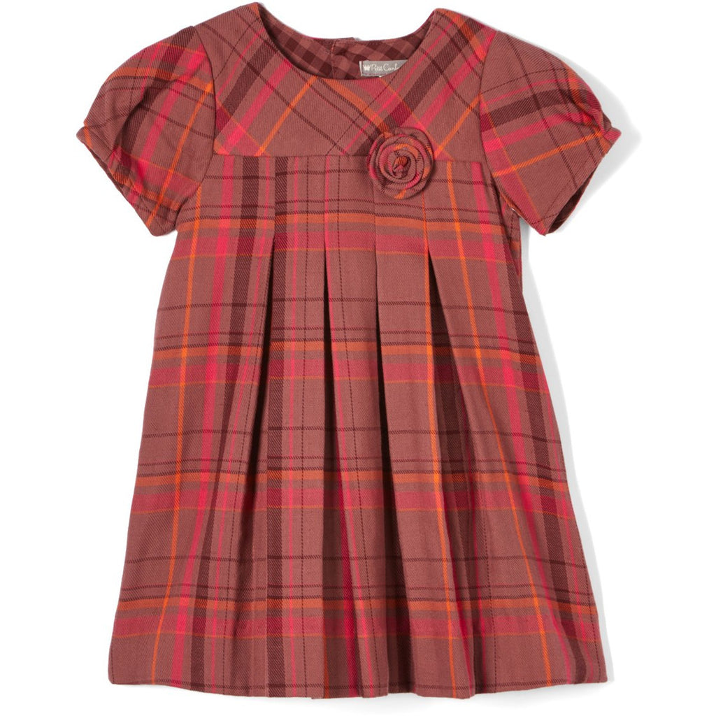 Plaid Flannel Rosette Dress