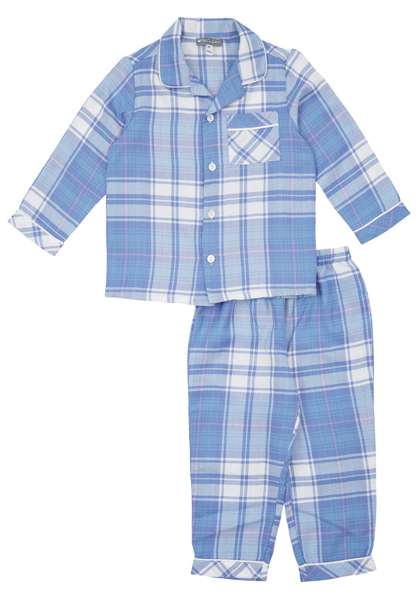 Blue Plaid Pajamas Set