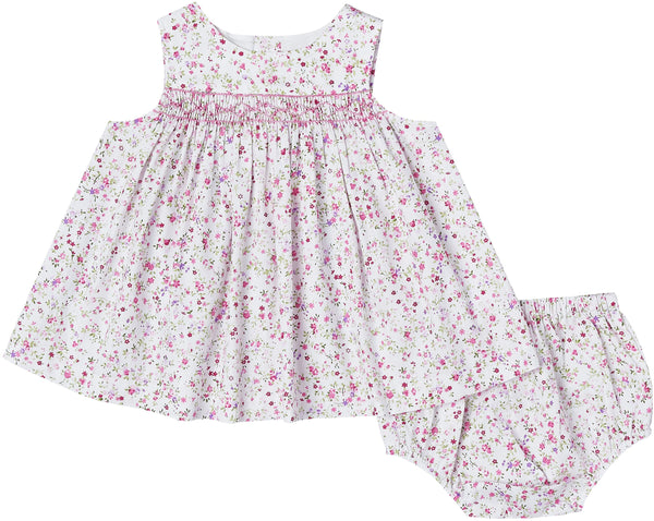 Liberty Smocked Dress + Bloomers