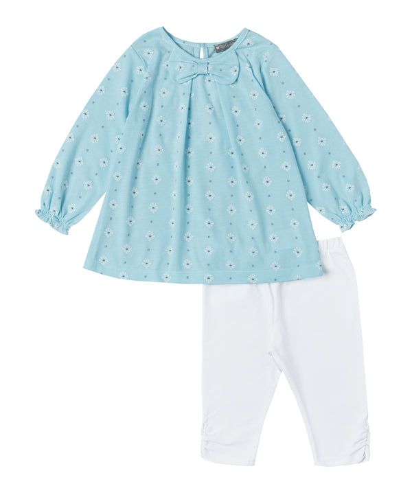 Aqua Daisy Tunic Set
