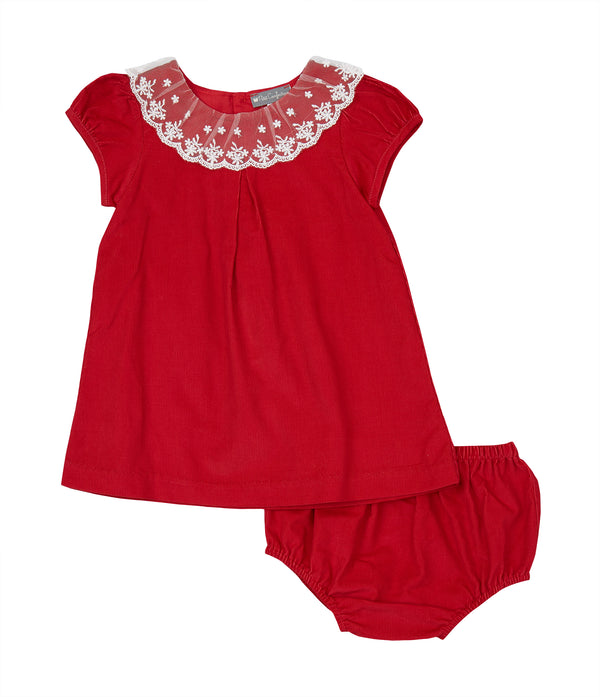 Corduroy Lace Dress + Bloomer