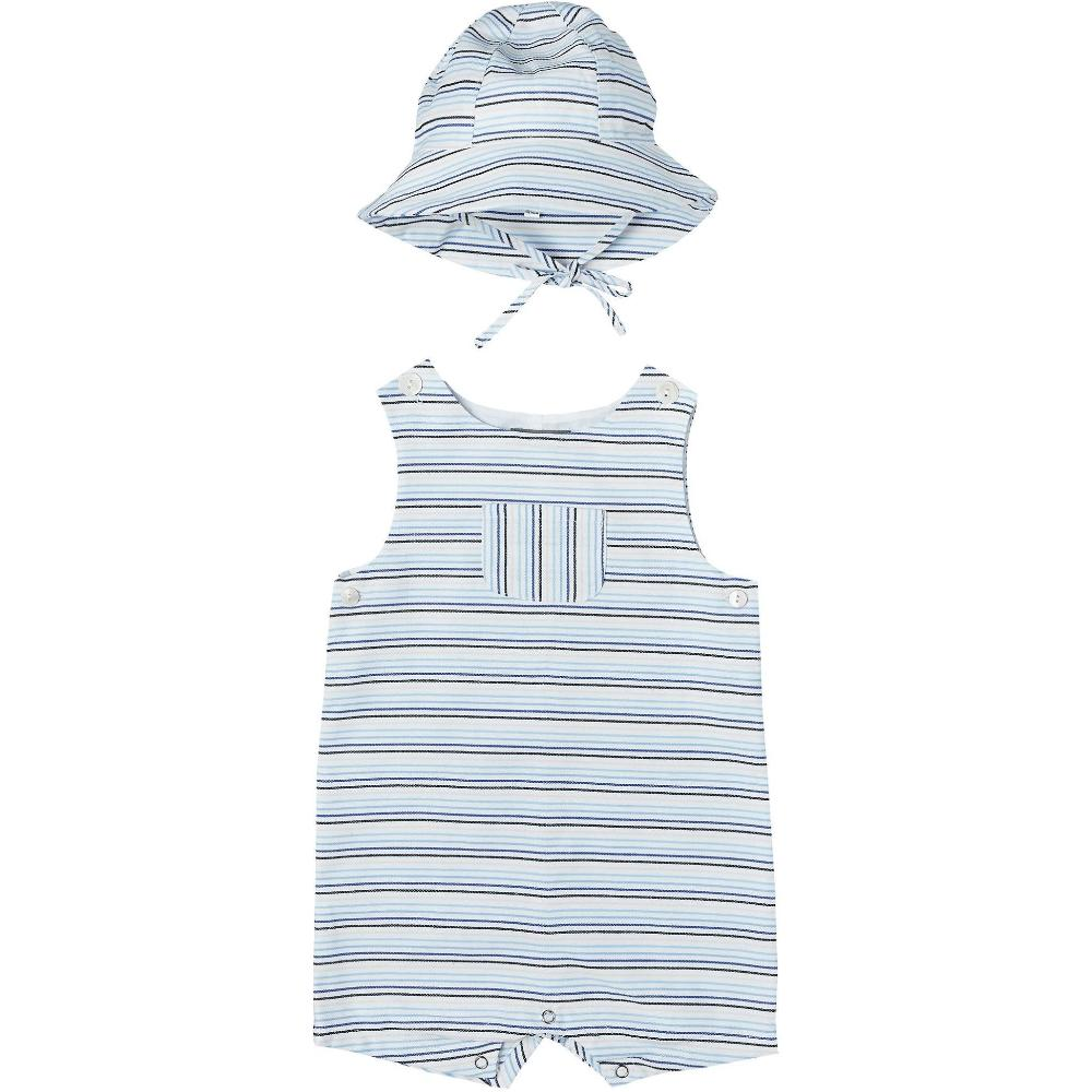 Striped Romper + Sunhat