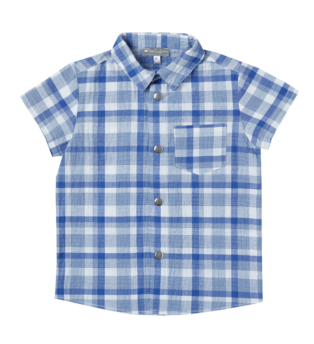 Plaid Short-Sleeve Shirt