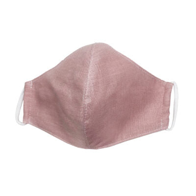 Pink Linen Protective Mask