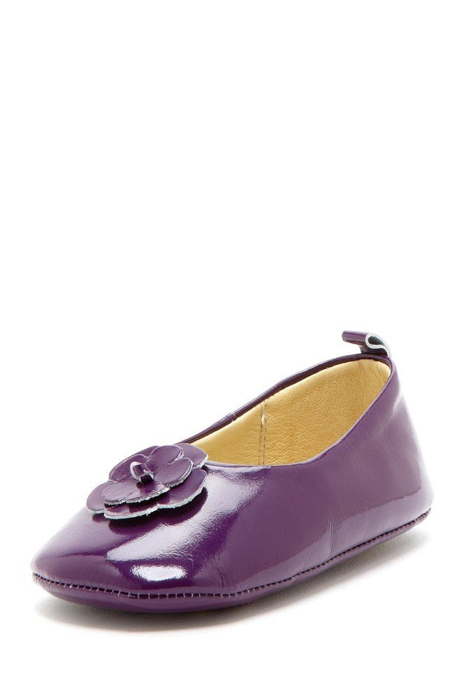 Plum Daisy Patent Ballets - Petit Confection