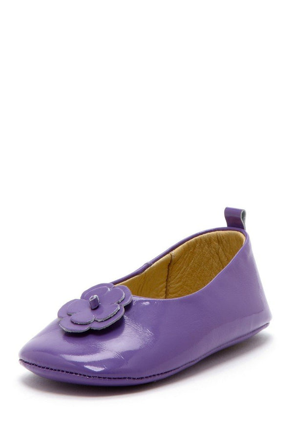 Purple Daisy Patent Ballets
