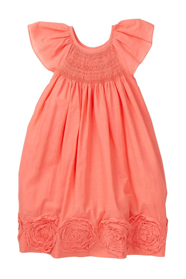 Orange Swirl Smocked Dress - Petit Confection