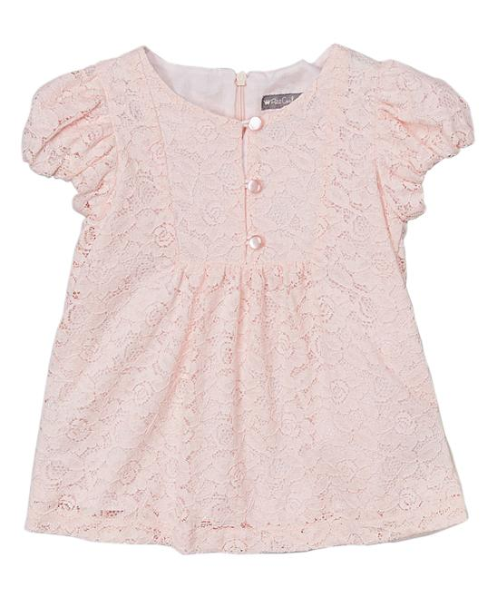 Blush Lace Cap-Sleeve Top
