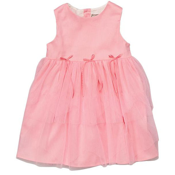 Coral Tulle Tiered Dress - Petit Confection