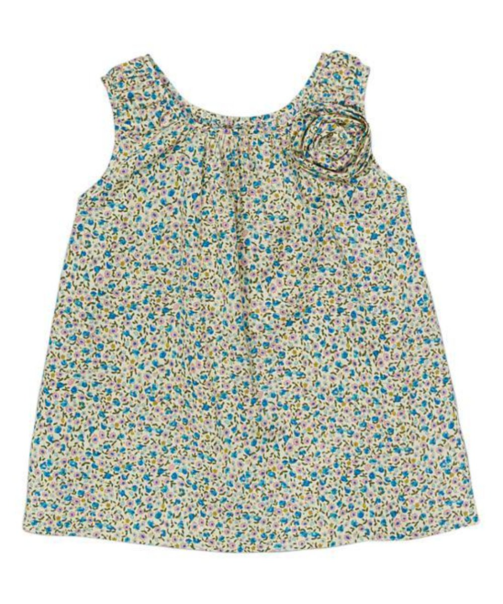 Aqua Rosette Tunic - Petit Confection