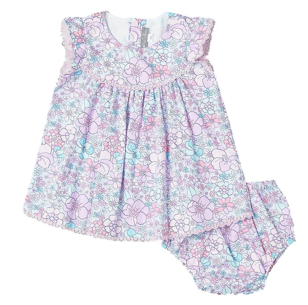 Lavender Floral Dress Set
