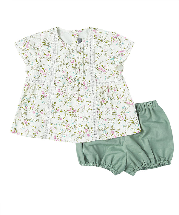 Floral Top + Bloomers