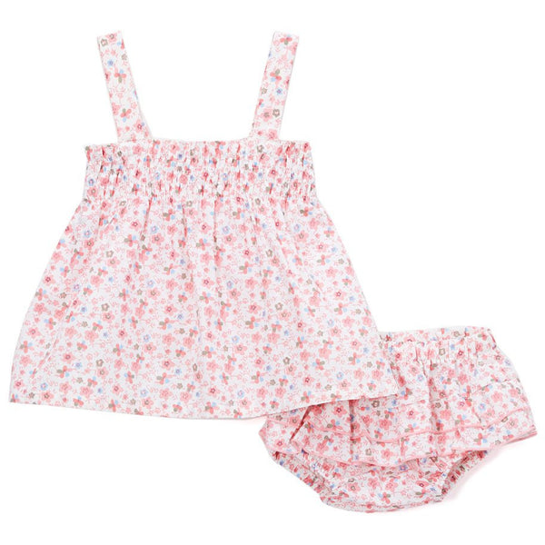 Floral Smocked Top Set