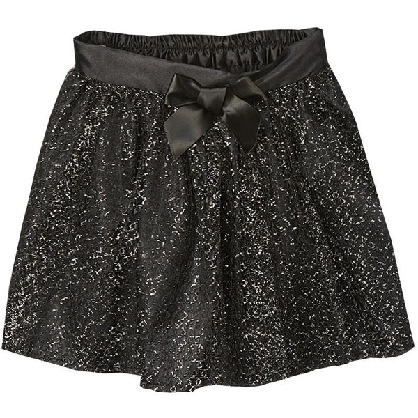 Black Tulle Glitter Skirt
