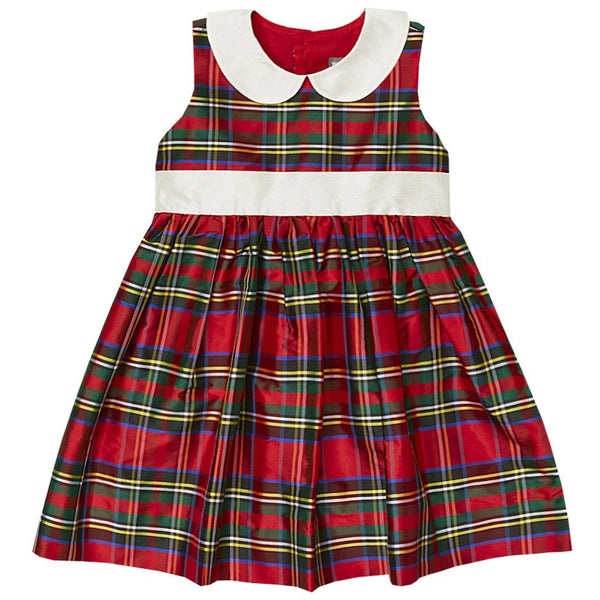 Red Plaid Silk Dress