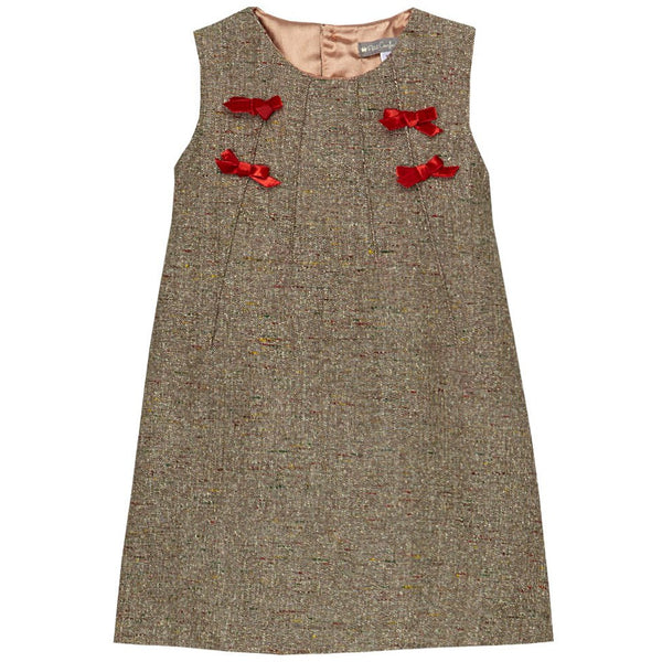 Brown Tweed Ribbon Jumper