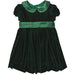 Green Velvet Bow Dress