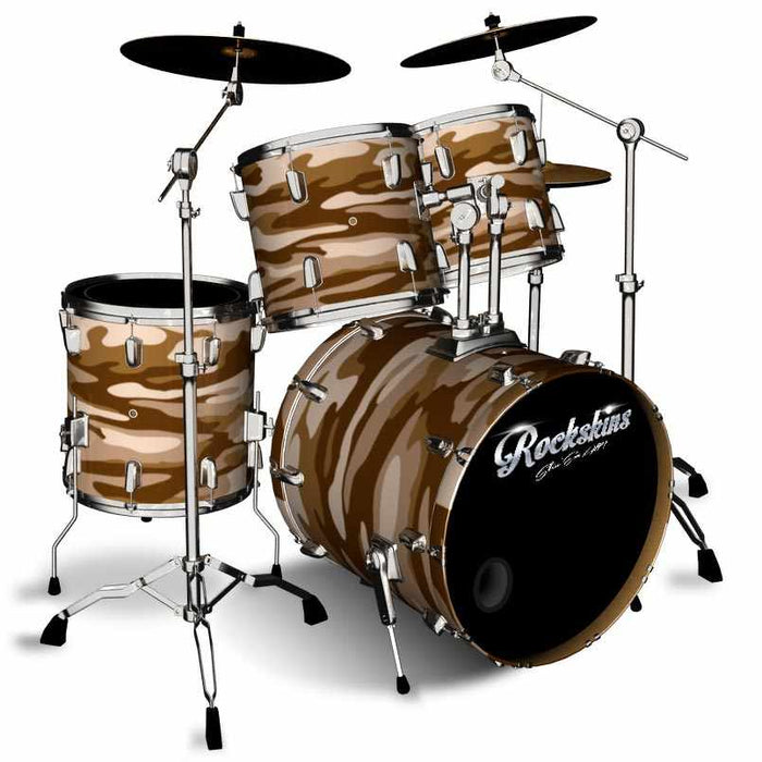 Sand Storm Brown Camo Drum Wrap
