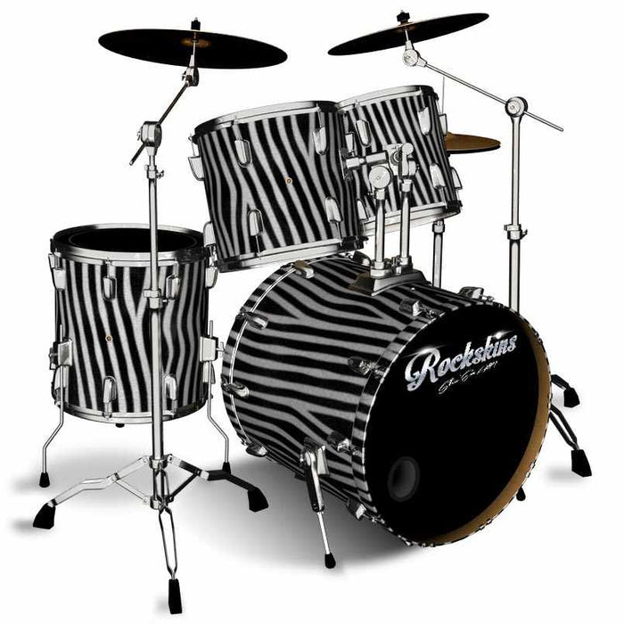 Zebra Fur Drum Wrap