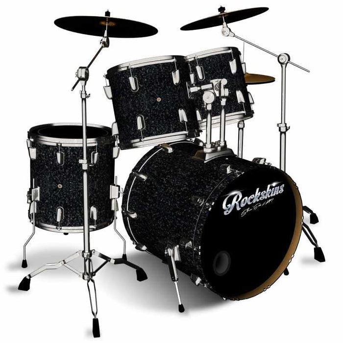 Black Glitter Drum Wrap