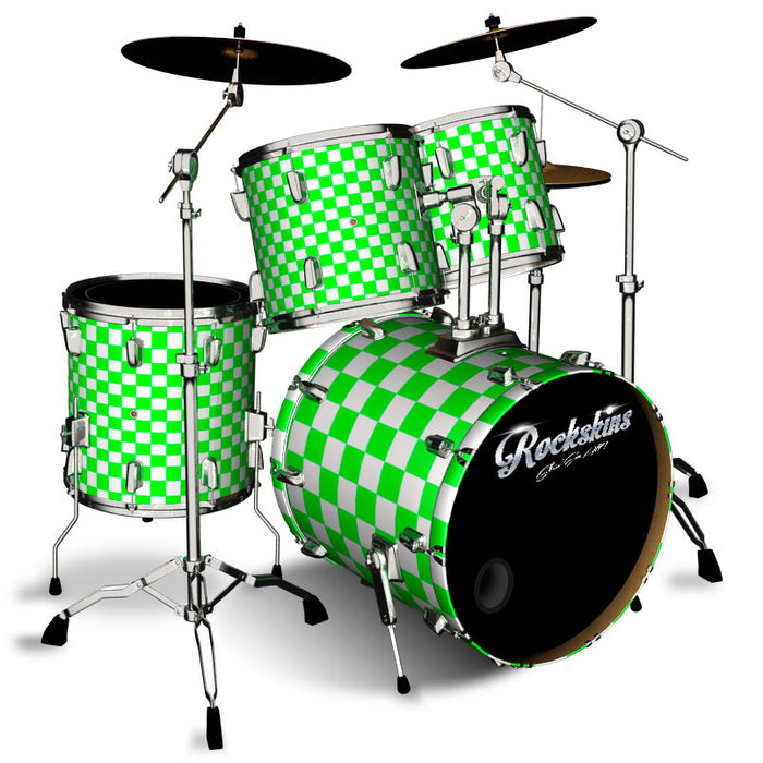 Green and White Checker