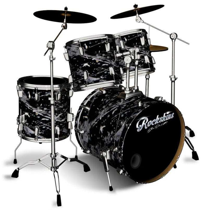 Splatter Snowstorm Drum Wrap