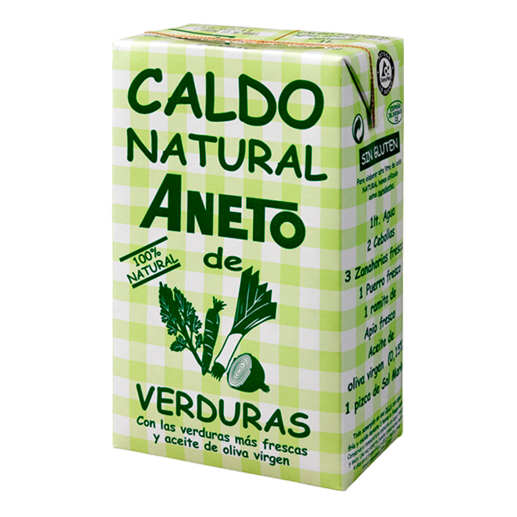 Caldo Natural Aneto de verduras 1000 ml - embridge.mx